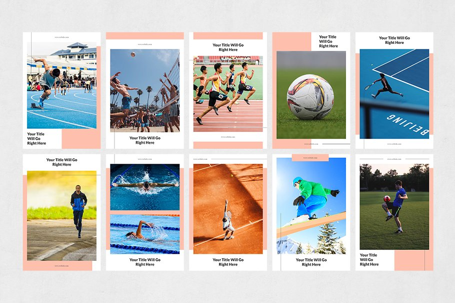 Sports Pinterest Posts in Pinterest Templates - product preview 6