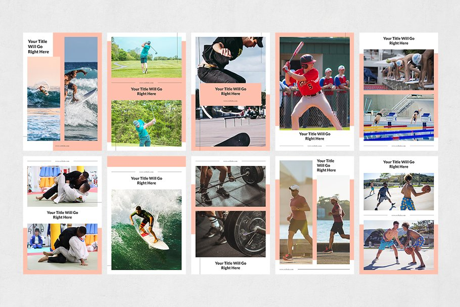 Sports Pinterest Posts in Pinterest Templates - product preview 7