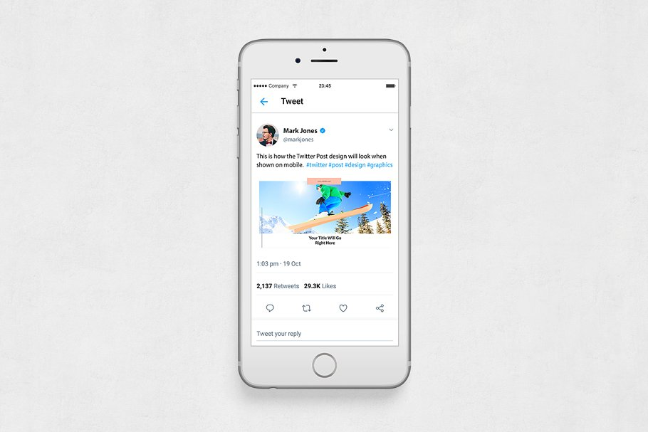 Sports Twitter Posts in Twitter Templates - product preview 5