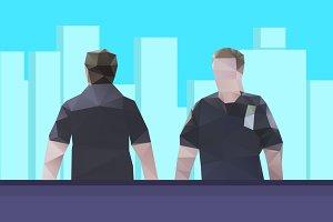 Vector police guy #2