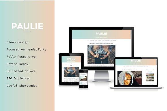 Paulie- Personal WordPress Theme