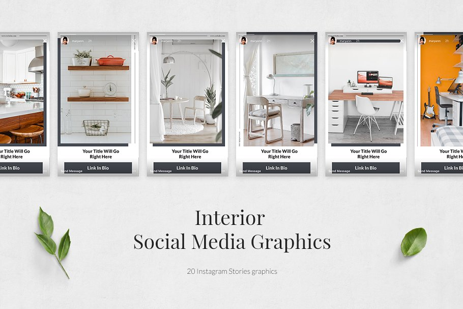 Interior Instagram Stories in Instagram Templates - product preview 1