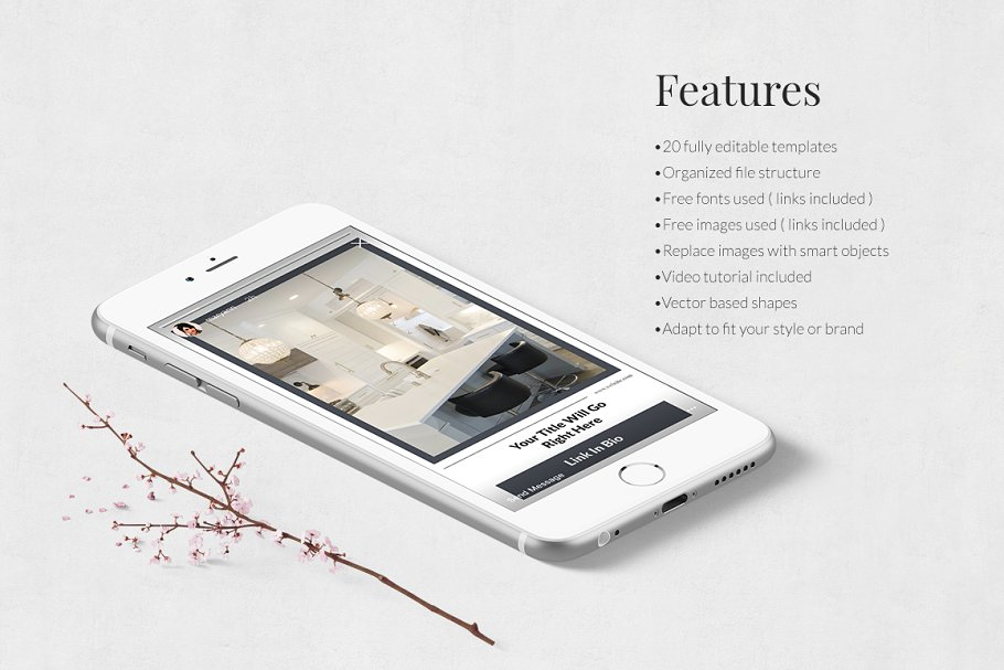 Interior Instagram Stories in Instagram Templates - product preview 2