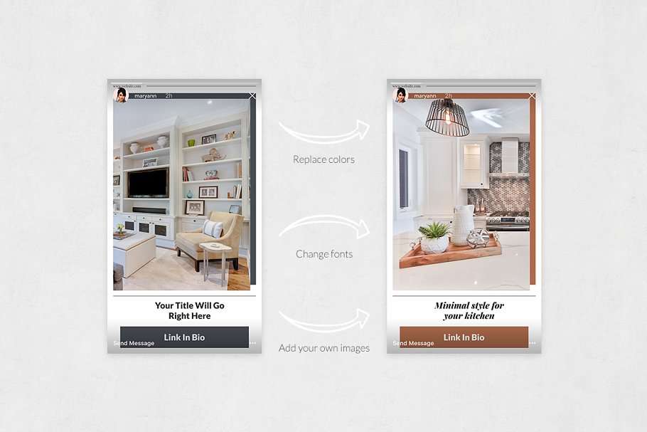 Interior Instagram Stories in Instagram Templates - product preview 4