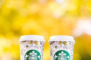 Starbucks in the Fall
