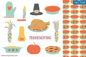 Thanksgiving: Vector Art
