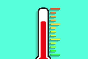 Icon thermometer on different