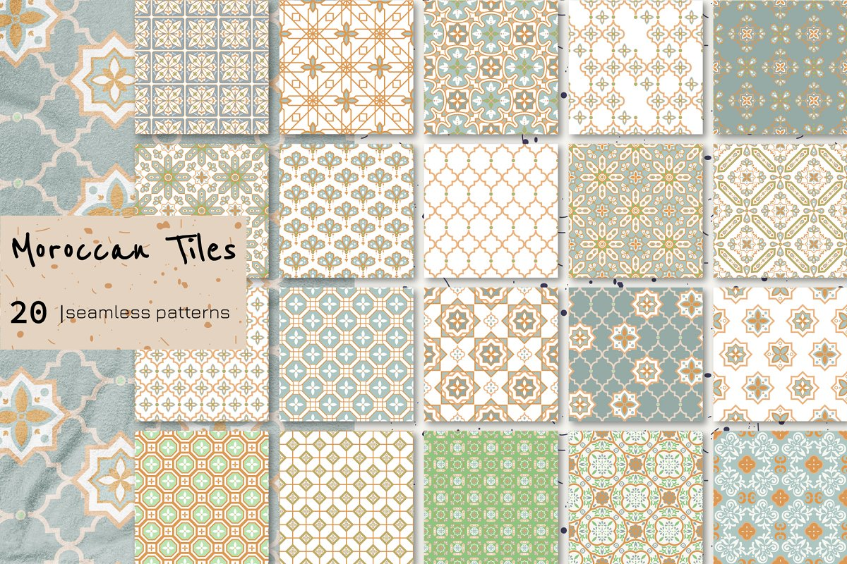 Moroccan Tiles - 20 patterns