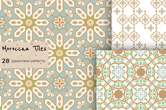 Moroccan Tiles - 20 patterns in Patterns - product preview 1