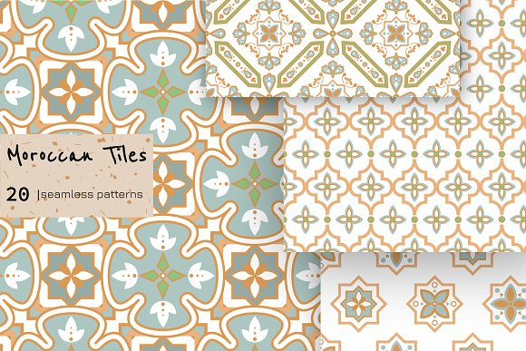 Moroccan Tiles - 20 patterns in Patterns - product preview 2