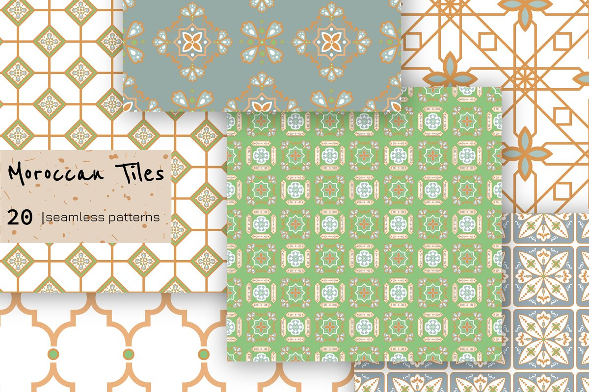 Moroccan Tiles - 20 patterns in Patterns - product preview 3