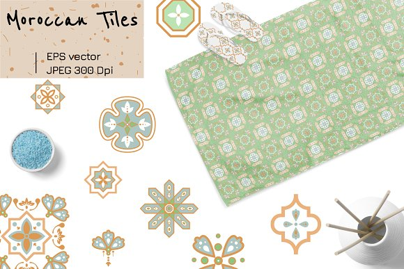 Moroccan Tiles - 20 patterns in Patterns - product preview 4