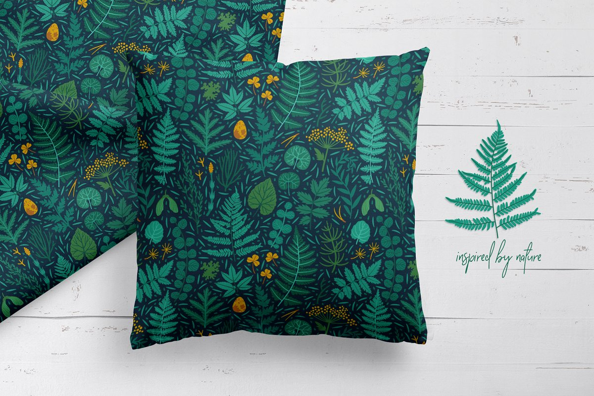 The emerald forest. Pattern design. in Patterns - product preview 1