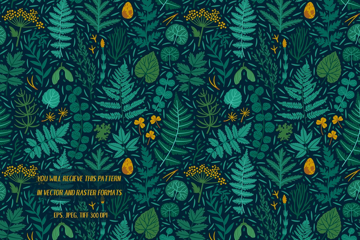 The emerald forest. Pattern design. in Patterns - product preview 2