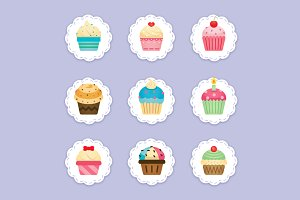 Cupcake Clipart, cupcakes icons