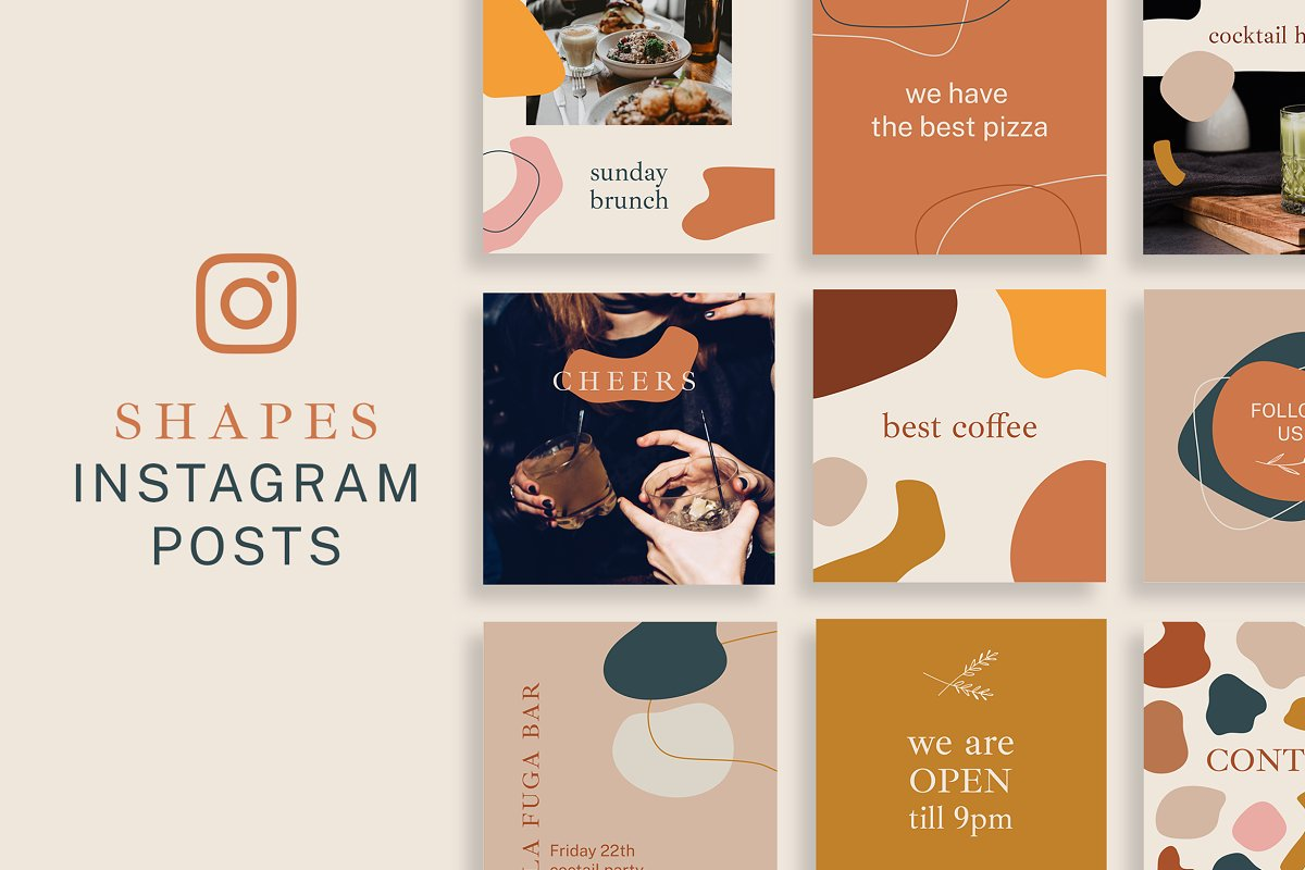 Shapes Instagram Posts Template