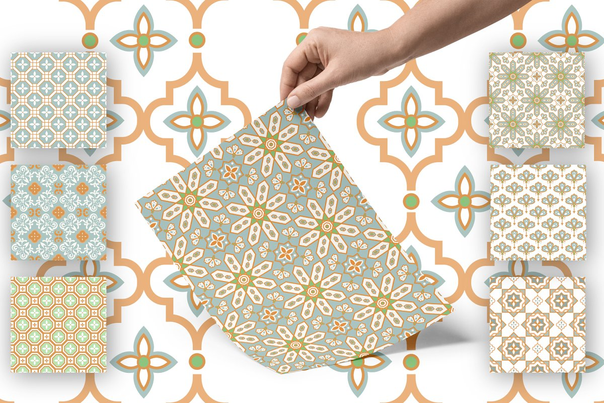 Moroccan Tiles - 20 patterns in Patterns - product preview 5
