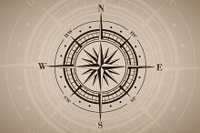 Vector compass rose (windrose) - 5