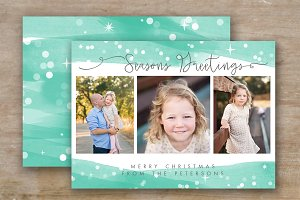 Holiday Card Template - Photoshop