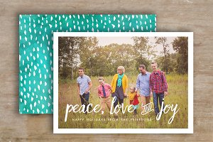 Christmas Card Template - Photoshop