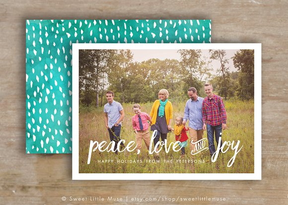 christmas card template photoshop card templates creative market