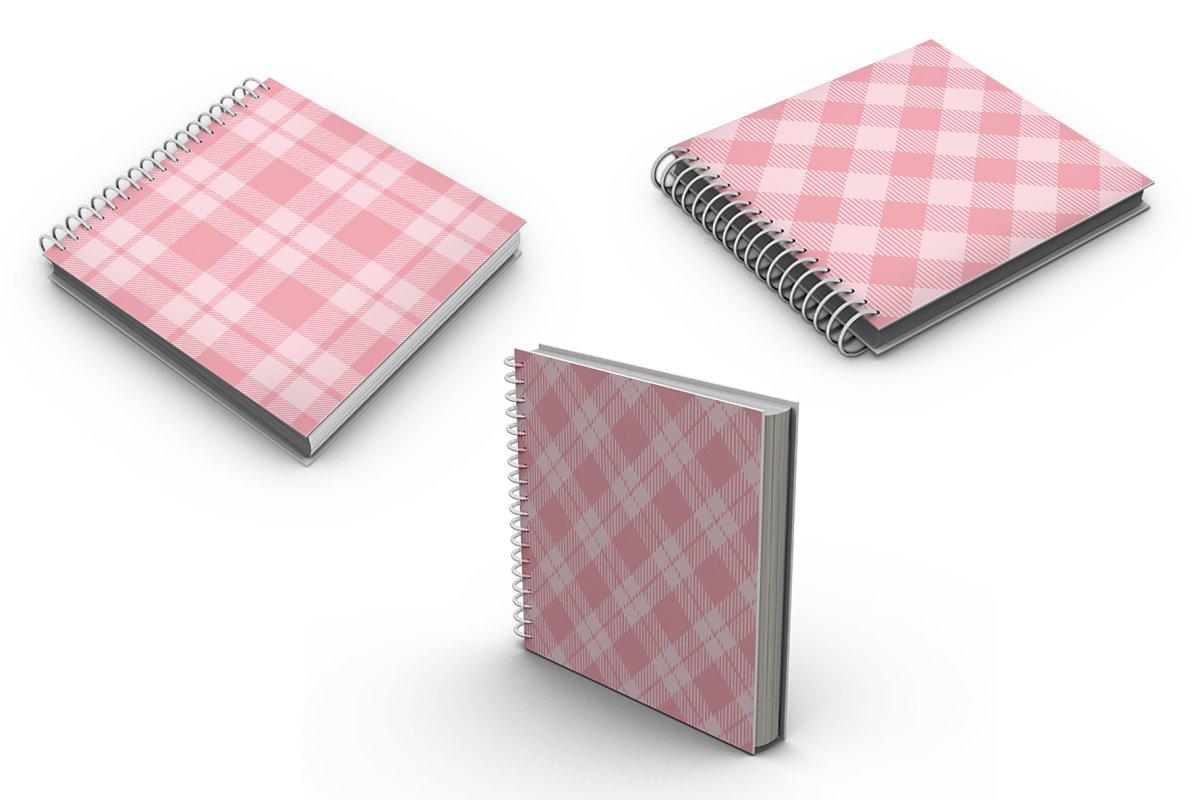 Set Tartan of Valentine's Day. in Patterns - product preview 3