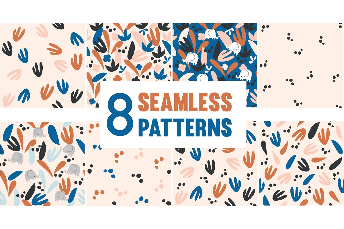 Floral Abstract Seamless Patterns in Patterns