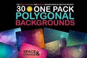 Polygonal Space Backgrounds 30% OFF