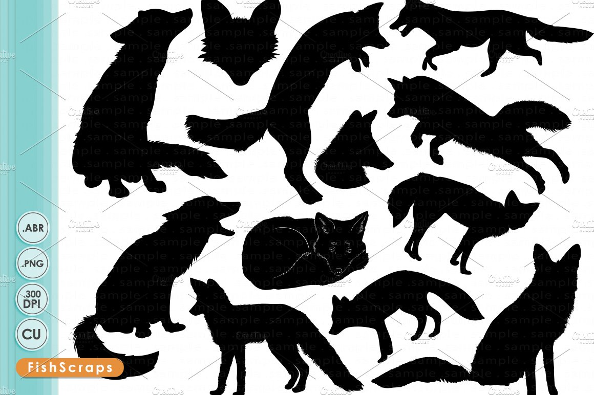 Fox Silhouettes ~ Illustrations ~ Creative Market