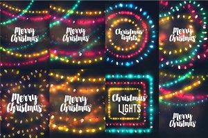 Vector Christmas lights bundle