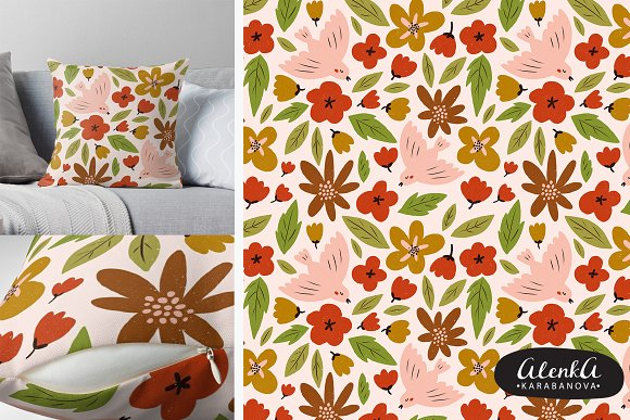 SPRING seamless pattern in Patterns - product preview 1