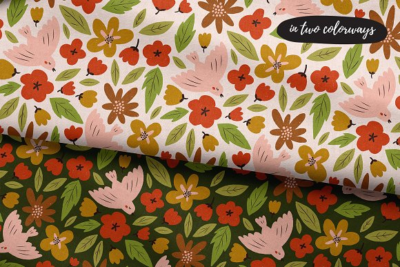 SPRING seamless pattern in Patterns - product preview 2