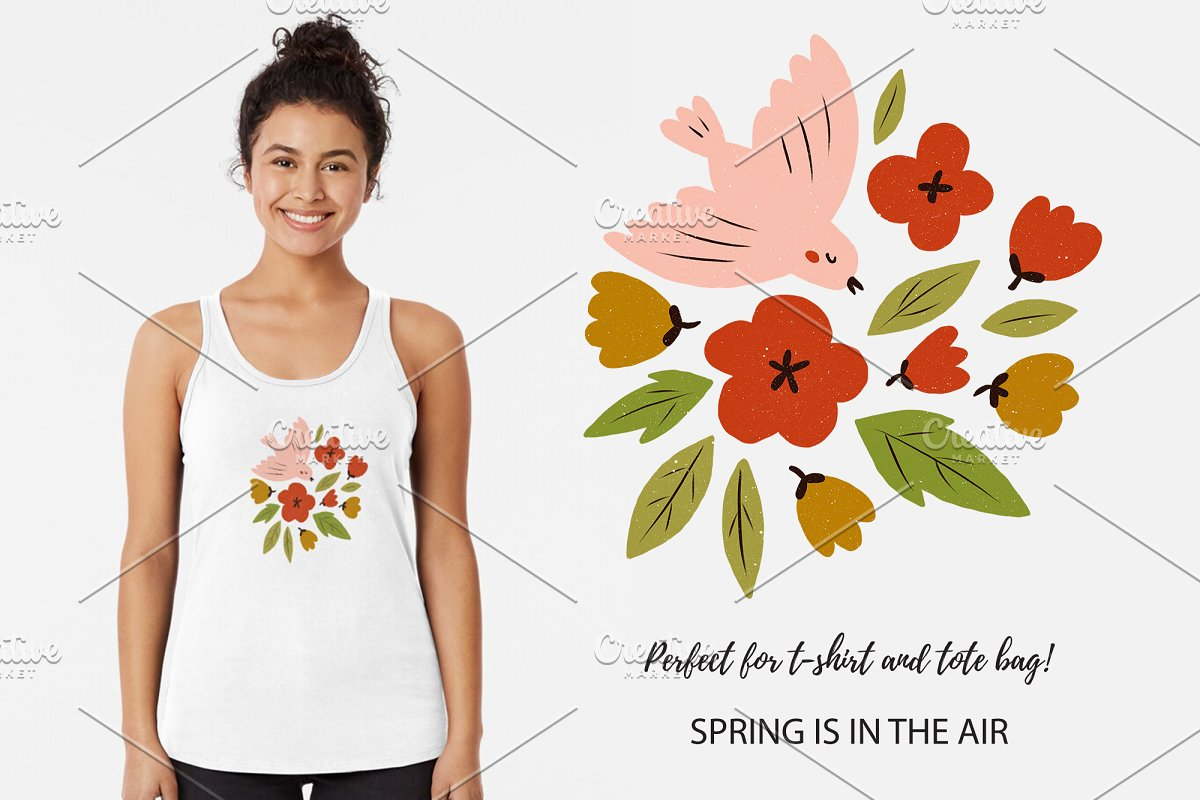 SPRING seamless pattern in Patterns - product preview 3