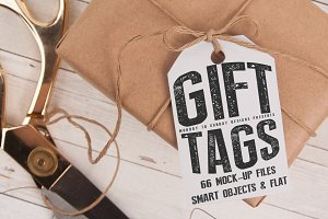 Gift Tag Mock Ups- Smart Objects!