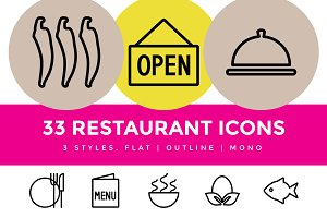 Restaurant & Food Menu Icons