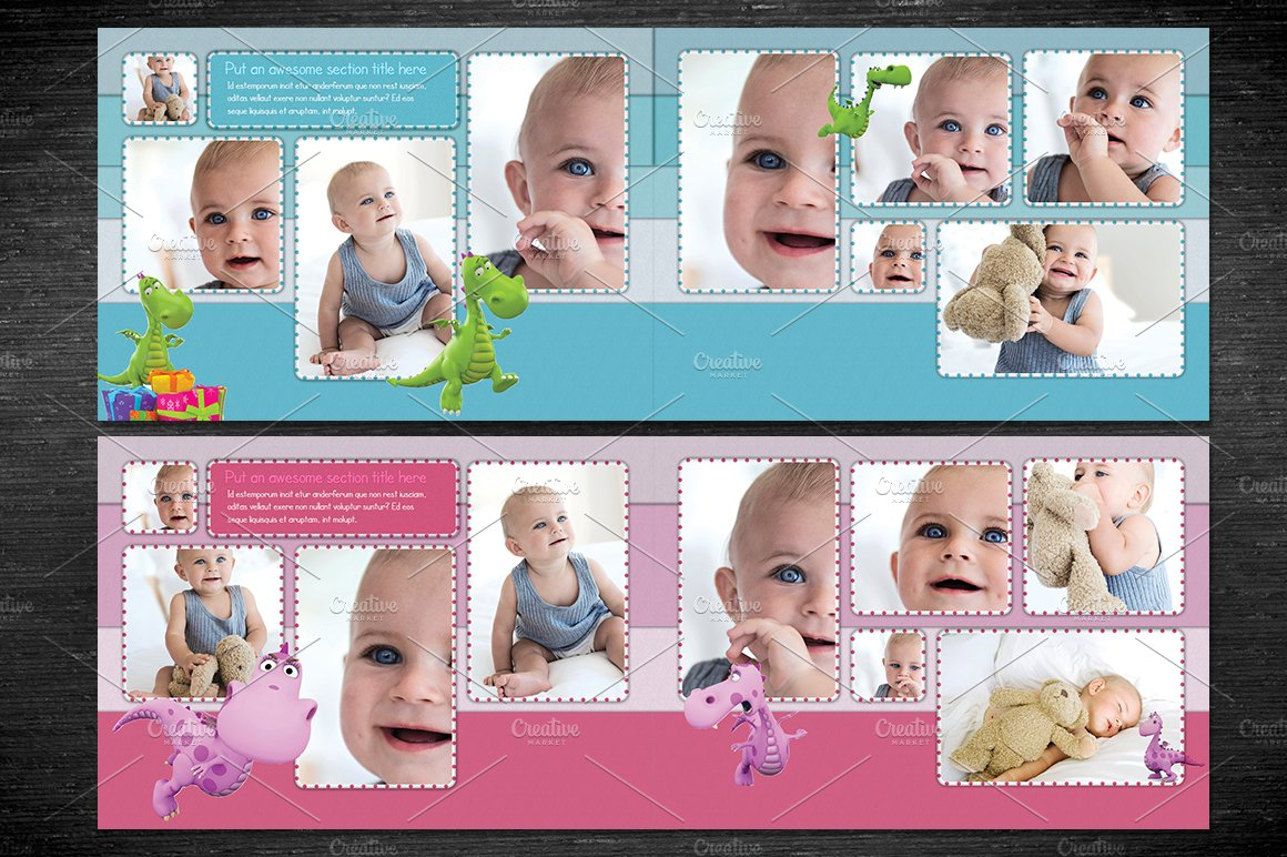photo templates free - baby photobook album template a4 templates creative