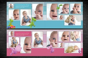 Baby Photobook Album Template - A4
