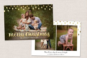 Christmas Card Template CC112