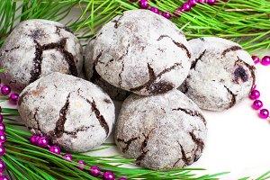 """Cookies """"Chocolate crinkles"""""""
