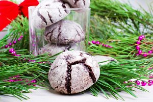 "Cookies ""Chocolate crinkles"""