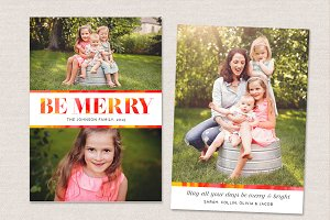 Christmas Card Template CC093