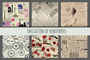 Imitation of newspapers.