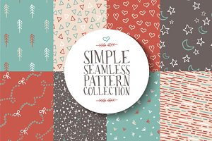 Simple seamless pattern collection