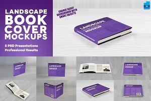 Landscape Book Cover Mockups