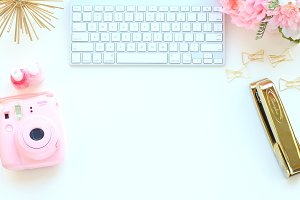 Keyboard Gold Styled Stock Desktop
