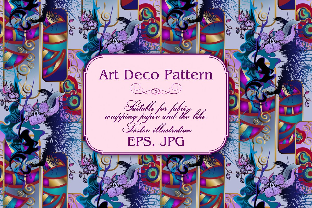 Art Deco Pattern in Patterns - product preview 1