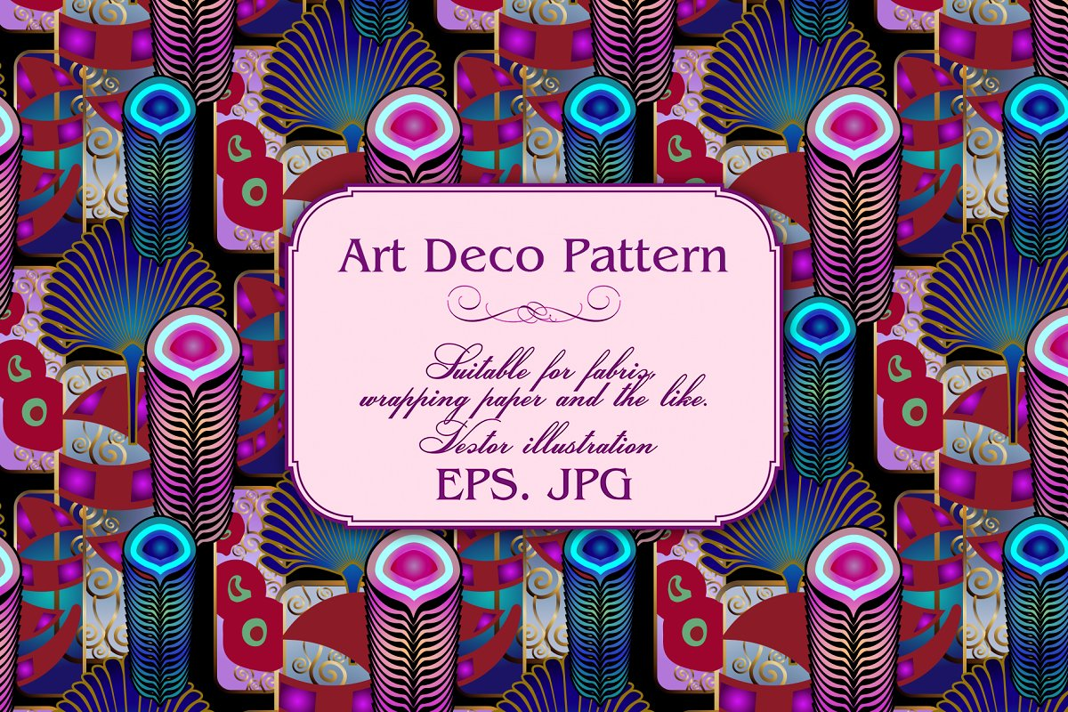 Art Deco Pattern in Patterns - product preview 2