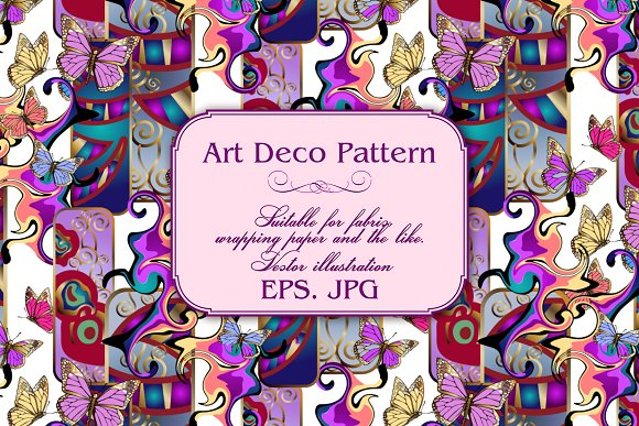 Art Deco Pattern in Patterns - product preview 3