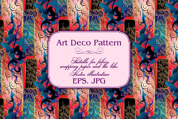 Art Deco Pattern in Patterns - product preview 4