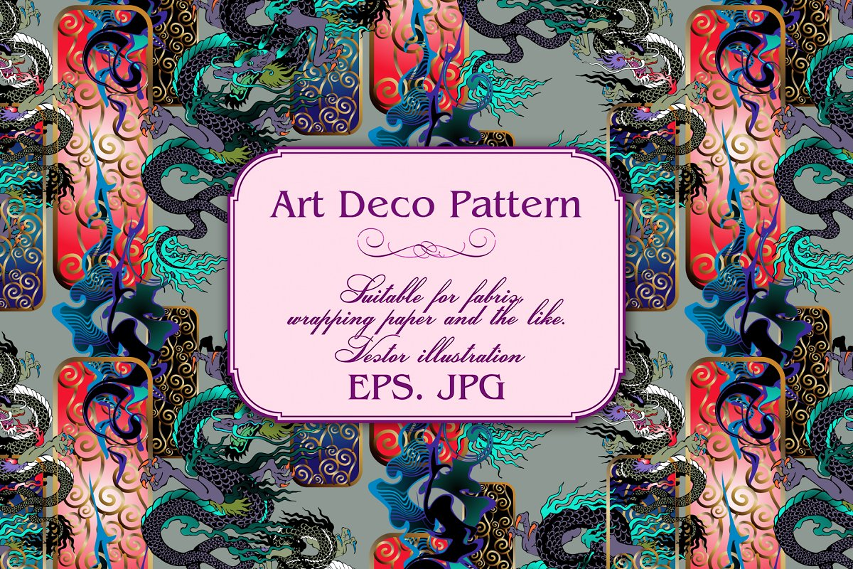 Art Deco Pattern in Patterns - product preview 5